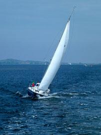 Starke Winde auf der Fahrt nach Stralsund