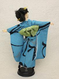 kimono Barbie,hurisode Barbie,バービー和服 青