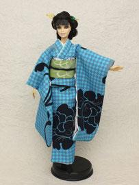 バービー着物、バービー振袖、モダン振袖、kimono Barbie