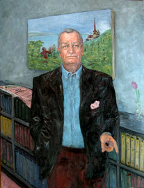 Frank A. Meyer . Swiss Publicist . 140 x 110 cm . Oil On Canvas