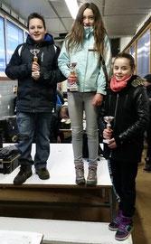 Le podium Jeunes DTM