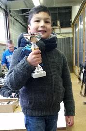 Le podium Jeunes TT (Kalen 4ans)