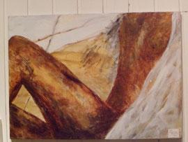 Akt,  40 80 cm, Acryl auf Leinwand