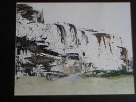 Küste7,  40 50 cm, Öl auf Papier