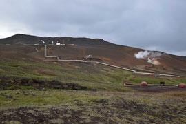 Zufuhrleitungen der Geothermie ans Kraftwerk