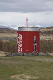 Gag eines Golfclubs in Island