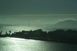 Golden Gate Bridge in der Abenddämmerung