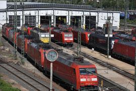 Mannheimer Lokschuppen im Güterbahnhof