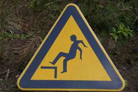 Vorsicht beim Rückwärtslaufen