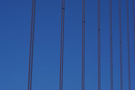 San Francisco - Golden Gate Bridge - Stahlseile