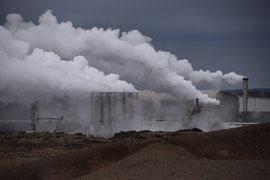 Abwärme Geothermiekraftwerk