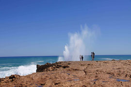 Blowhole am Point Quobba, Westaustralien