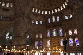 Istanbul - Im Inneren der Sultan-Ahmed-Moschee