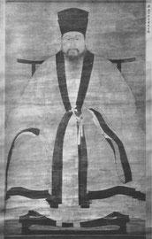 Portrait. Anonyme. Fin de la dynastie Ming. Lavis et couleurs.