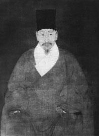 Portrait de Tcheou Yuan-tch'eng. Anonyme. Fin de la dynastie Ming.