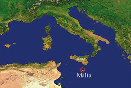 Location of Malta between Europe and Africa .... Women make history