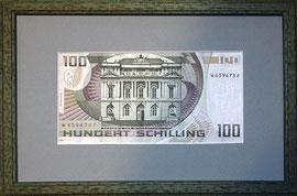 Encadrement double faces d'un billet de banque