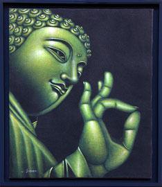 Encadrement de toile Bali par l'atelier Cadre de Vie
