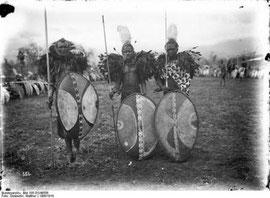 Guerrieri masai dell'epoca coloniale.