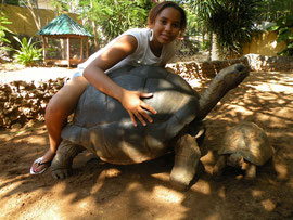 Sabina with tortoise
