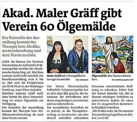 Presseartikel Bezirksblätter Horn (Woche 17), Copyright Hilda Schwameis
