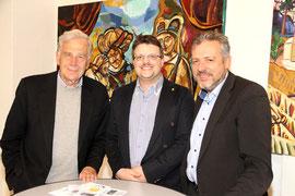 Bernhard Görg -Vizebürgerm. und Landeshauptmann-Stellvertr. von Wien a. D., Matthias Laurenz Gräff, Nationalrat Werner Groiß. Foto - Martin Kalchhauser, NÖN Horn