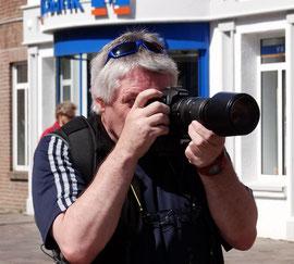 Cliff Soden hat hier immer Zeit für Fotos