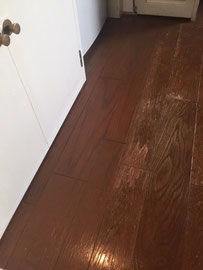 床表面材のはがれ「補修後」