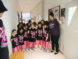 2012GWFCのレディガガ恵子氏を見に来たHip Hop Kid's達
