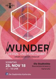 Wunder - Design- und Kunstmarkt 2018 in der Stadtmitte Karlsruhe