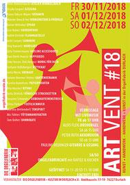 Artvent#18 - Weihnachtsmarkt ARTVENT Kunst & Handwerk - 30.11.-02.12.2018 in der Orgelfabrik Durlach - auch 2015 & 2016