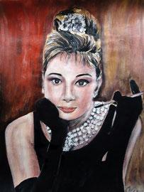 Audrey Hepburn, Acryl, 42x32