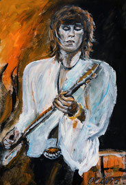 Keith Richards live, Acryl, 42x32