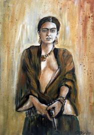 Frida Kahlo, Acryl, 42.32