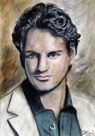 Roger Federer, Acryl 42x32 - verkauft