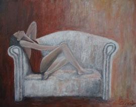 Longing, Acryl auf Leinwand, 50x40