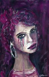 Sad Lisa, Acryl, 40x30