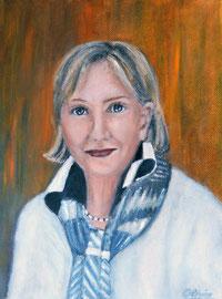 Gisela, Oel auf Leinwand, 30x40, Auftrags-Portrait
