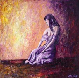Enchanted, Acryl auf Palmenholz, 60x60