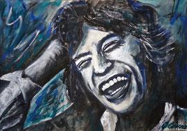 Mick Jagger, Acryl, 32x42