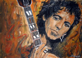 Keith Richards portrait, Acryl, 32x42