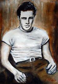 Marlon Brando, Acryl, 42x32