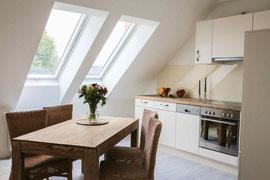 Gutshaus Laschendorf Ferienwohnung 6 Küche & Essbereich