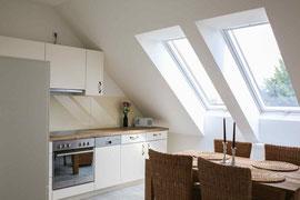 Gutshaus Laschendorf Ferienwohnung 5 Küche & Essbereich