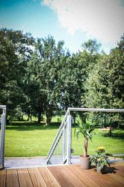 Blick von Terrasse : Gutshaus Laschendorf Park