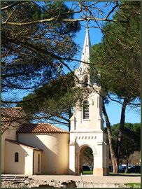 Eglise Saint-Eloi, profil et une partie des vestiges de la villa Gallo-Romaine, Andernos-les-Bains (Bassin d'Arcachon)