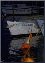Corps-mort, bateaux et reflets de nuit