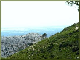 Vue panoramique des hauteurs du massif de La Caume dans les Alpilles (Bouches du Rhône)
