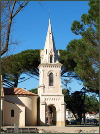 Eglise Saint-Eloi, profil, Andernos-les-Bains (Bassin d'Arcachon)