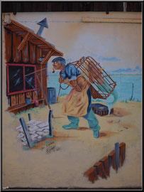 Fresque sur une cabane